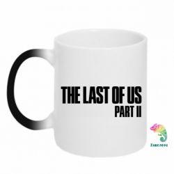 Кружка-хамелеон The last of us part 2 logo