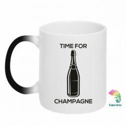Кружка-хамелеон Time for champagne