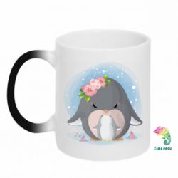Кружка-хамелеон Two cute penguins
