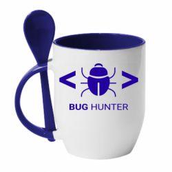 Кружка з керамічною ложкою Bug Hunter