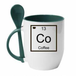 Кружка з керамічною ложкою Co coffee