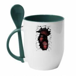 Кружка з керамічною ложкою Colossal titan