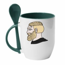 Кружка з керамічною ложкою Meme Man Nordic Gamer