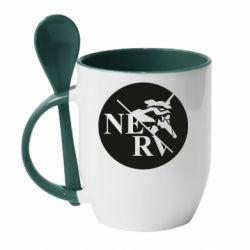 Кружка з керамічною ложкою Nerv