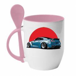 Кружка с керамической ложкой Nissan GR-R Japan