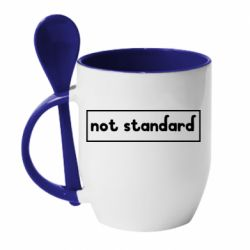 Кружка з керамічною ложкою Not standard