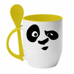 Кружка з керамічною ложкою Panda Po