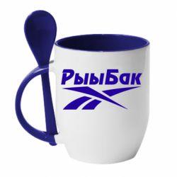 Кружка з керамічною ложкою Reebok РыыБак