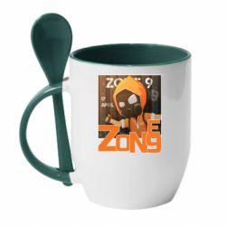 Кружка з керамічною ложкою Standoff Zone 9