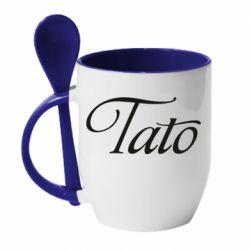 Кружка з керамічною ложкою Tato