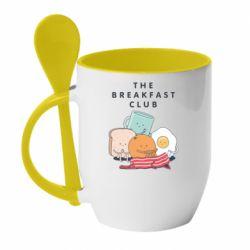 Кружка з керамічною ложкою The breakfast club