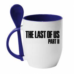 Кружка с керамической ложкой The last of us part 2 logo