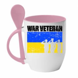 Кружка з керамічною ложкою War veteran