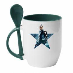 Кружка з керамічною ложкою Winter Soldier Star