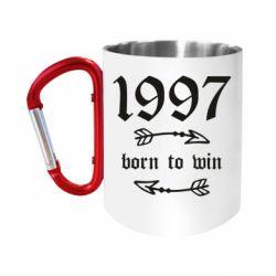 Кружка з ручкою-карабіном 1997 Born to win