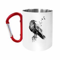 Кружка з ручкою-карабіном A pack of ravens