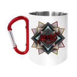 """Кружка с ручкой """"карабин"""" AC/DC Art Logo"""