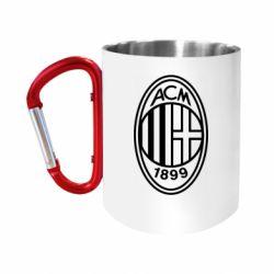 Кружка з ручкою-карабіном AC Milan logo