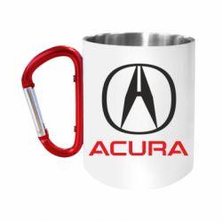 Кружка з ручкою-карабіном Acura