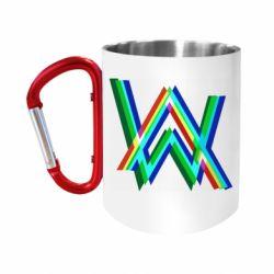 Кружка з ручкою-карабіном Alan Walker multicolored logo