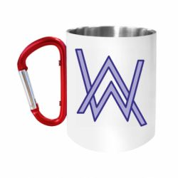 """Кружка с ручкой """"карабин"""" Alan Walker neon logo"""