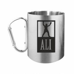 Кружка з ручкою-карабіном Ali