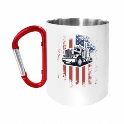 Кружка з ручкою-карабіном American Truck