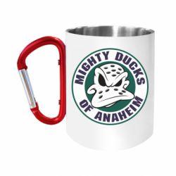 """Кружка с ручкой """"карабин"""" Anaheim Mighty Ducks Logo"""