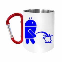 Кружка з ручкою-карабіном Android принижує Apple