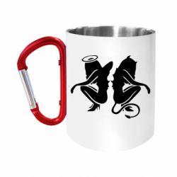 Кружка з ручкою-карабіном Ангел і Демон