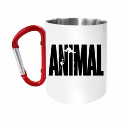 Кружка з ручкою-карабіном Animal Gym
