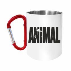 """Кружка с ручкой """"карабин"""" Animal Logo"""