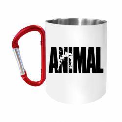 Кружка з ручкою-карабіном Animal Powerlifting