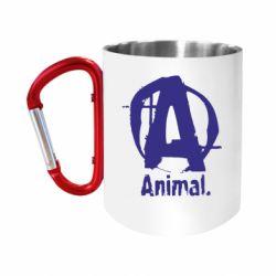 """Кружка с ручкой """"карабин"""" Animal"""