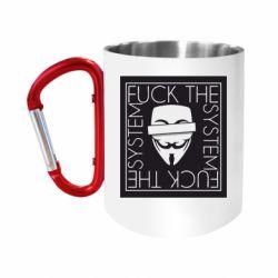 Кружка з ручкою-карабіном Anonymous