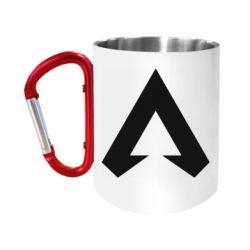 """Кружка с ручкой """"карабин"""" Apex legends logotype"""