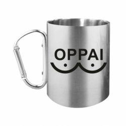 Кружка з ручкою-карабіном OPPAI