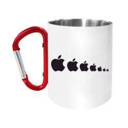 Кружка з ручкою-карабіном Apple Еволюції