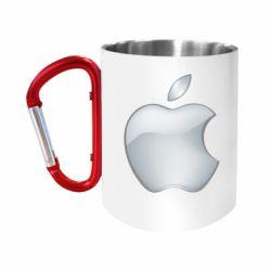 Кружка з ручкою-карабіном Apple Silver