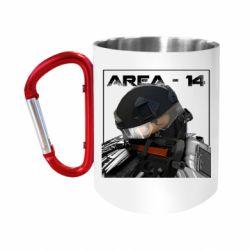 """Кружка с ручкой """"карабин"""" Area-14"""