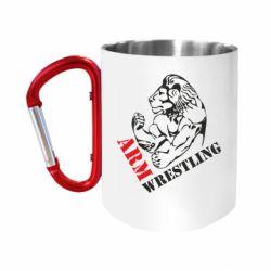 """Кружка с ручкой """"карабин"""" Arm Wrestling"""