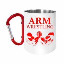 Кружка з ручкою-карабіном Arm Wrestling