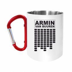 """Кружка с ручкой """"карабин"""" Armin Van Buuren Trance"""