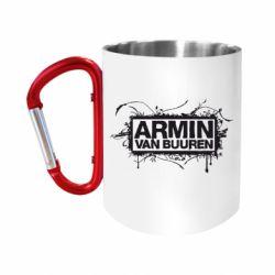 """Кружка с ручкой """"карабин"""" Armin Van Buuren"""