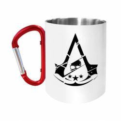Кружка з ручкою-карабіном Assassin's Creed and skull 1