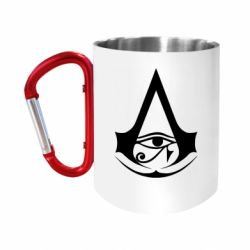 Кружка з ручкою-карабіном Assassin's Creed Origins logo