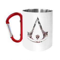 """Кружка с ручкой """"карабин"""" Assassins Creed and skull"""