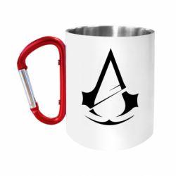 Кружка з ручкою-карабіном Assassins Creed Logo