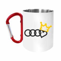 Кружка з ручкою-карабіном Audi queen