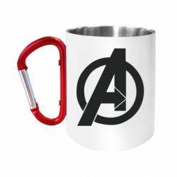 Кружка з ручкою-карабіном Avengers logo